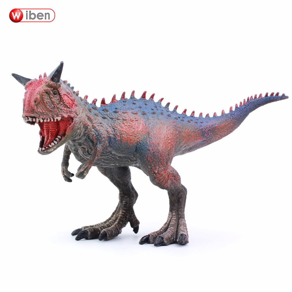 Wiben Jurassic Carnotaurus Dinosaur Toys  Action Figure Animal Model Collection Learning & Educational Children Toy Gifts wiben animal hand puppet action