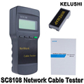KELUSHI Portable Multifunction Wireless Sc8108 LCD Digital PC Data CAT5 RJ45 LAN Phone Meter Length Network Cable Tester Meter