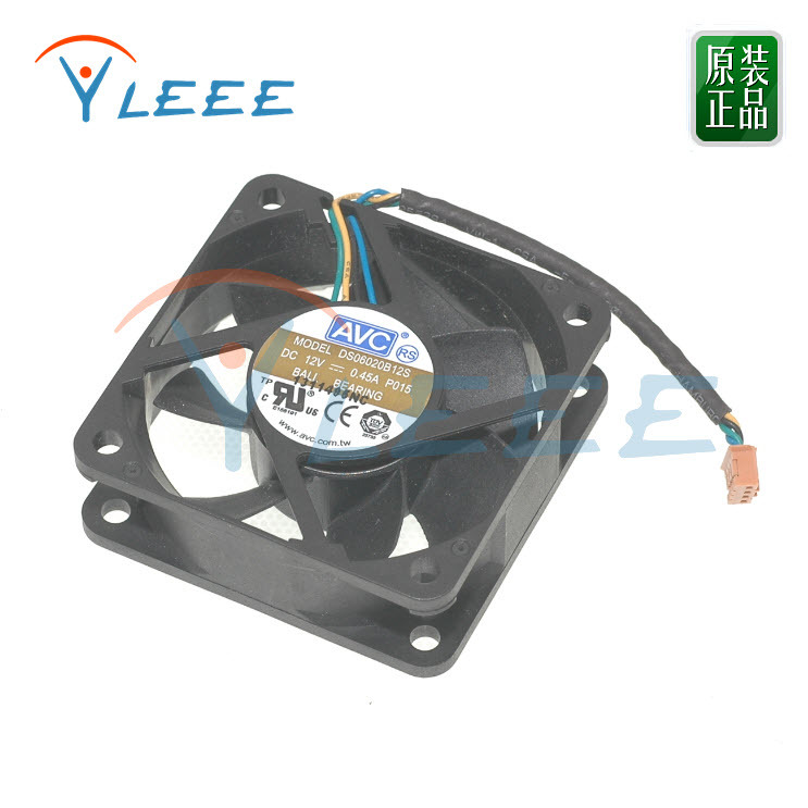 New Original Taiwan AVC DS06020B12S 12V 0.45A <font><b>60</b></font>*<font><b>60</b></font>*20 <font><b>MM</b></font> 6CM 4-wire <font><b>fan</b></font> speed control violence Computer cooling <font><b>fan</b></font> image