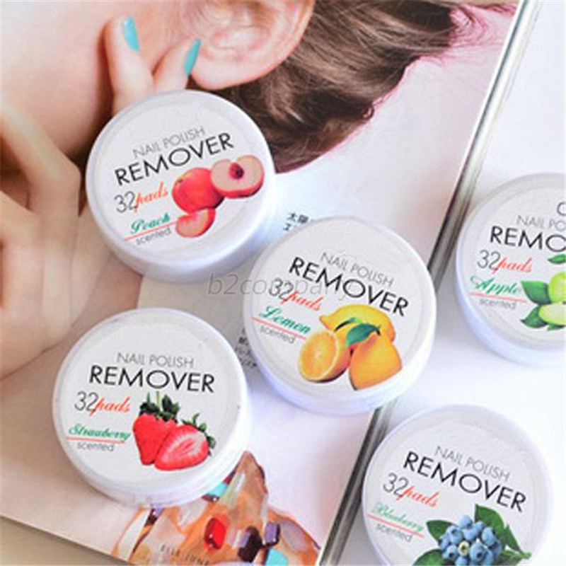 Shopping Discount Center Store New Flower Flavor Wet Wipes Paper Towel 32 Pcs Nail Art Polish Vanish Remover Pads