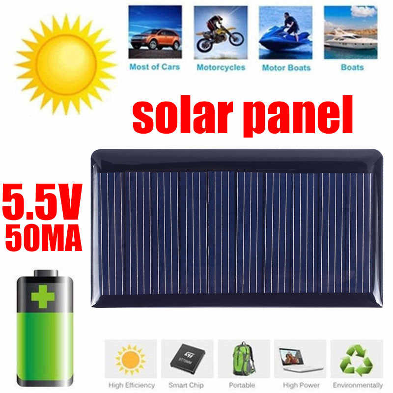 Solar Panel 5V Mini Solar Charger System DIY For Battery Cell Phone Chargers Portable Solar Cell 0.3W Power Bank