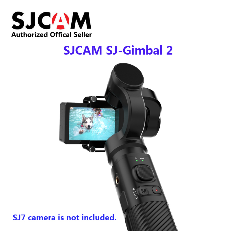 SJCAM Handheld GIMBAL SJ-Gimbal 2 3-Axis Stabilizer Bluetooth Control for SJ6 SJ7 SJ8 Pro/Plus/SJ500X Action Camera for Yi Cam update sjcam handheld gimbal sj gimbal 2 3 axis stabilizer bluetooth control for sjcam sj8 series sj7 star sj6 sj8 pro yi 4k cam