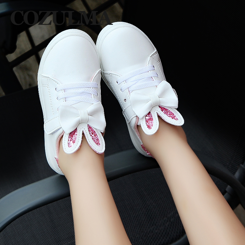COZULMA Spring Children Sneakers Kids Shoes Girls cekinowe uszy - Obuwie dziecięce - Zdjęcie 2