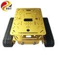 Chasis de tanque de doble capa DT200 RC WiFi Robot tanque modelo de coche ESPduino Compatible con UNO R3 DIY RC Toy DOIT