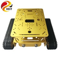 Double Layer Tank Chassis DT200 RC WiFi Robot Tank Car Model ESPduino Compatible with UNO R3 DIY RC Toy DOIT