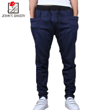 2017 New Brand Casual Joggers Solid Color Compression Pants Men Cotton Low Crotch Trousers Calabasas Cargo Pants Mens Leggings 8(China)