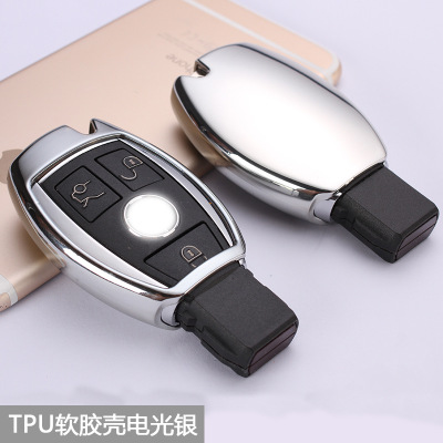 New Car styling soft TPU Car Key Cover Case Shell Bag Protective For Mercedes Benz C Class W205 GLC GLA Car Accessories