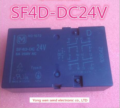 NEW relay SF4D-DC24V SF4DDC24V SF4D-24VDC SF4D24VDC SF4D-DC24  DIP18 1pcs/lot new cad50bdc dc24v tesys d series contactor control relay 5no 0nc