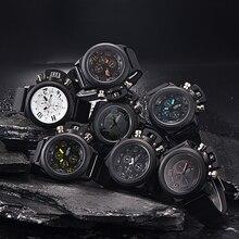 Famosa Marca de Fábrica Superior de Lujo Del Reloj de Los Hombres de Moda Reloj De Goma Menn Fecha Casual Deportes Reloj de Cuarzo Relojes de Lujo Marcas de Los Hombres deportivos