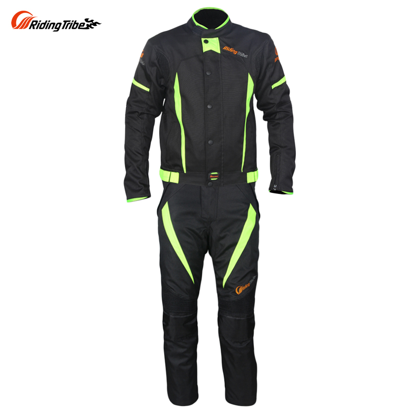 Riding Tribe Motorcycle Black Reflect Racing Winter Jackets and Pants Moto Waterproof Jackets Suits Trousers JK37
