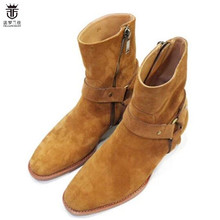 2019 Hot Sales FR.LANCELOT autumn winter Suede men real leather boots high top f
