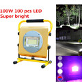 Holofote Portátil 16000 Lumen 100 W 100 pcs LED Handy Impermeável Lanterna Tocha Lâmpada Luz Lanterna de Acampamento