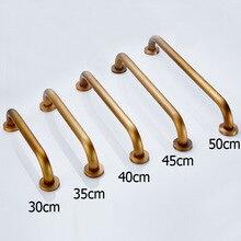 Antique 30~50cm bathroom non slip grab bars towel bars or safety grab bars Copper bathtub grab bars toilet for elderly YM124
