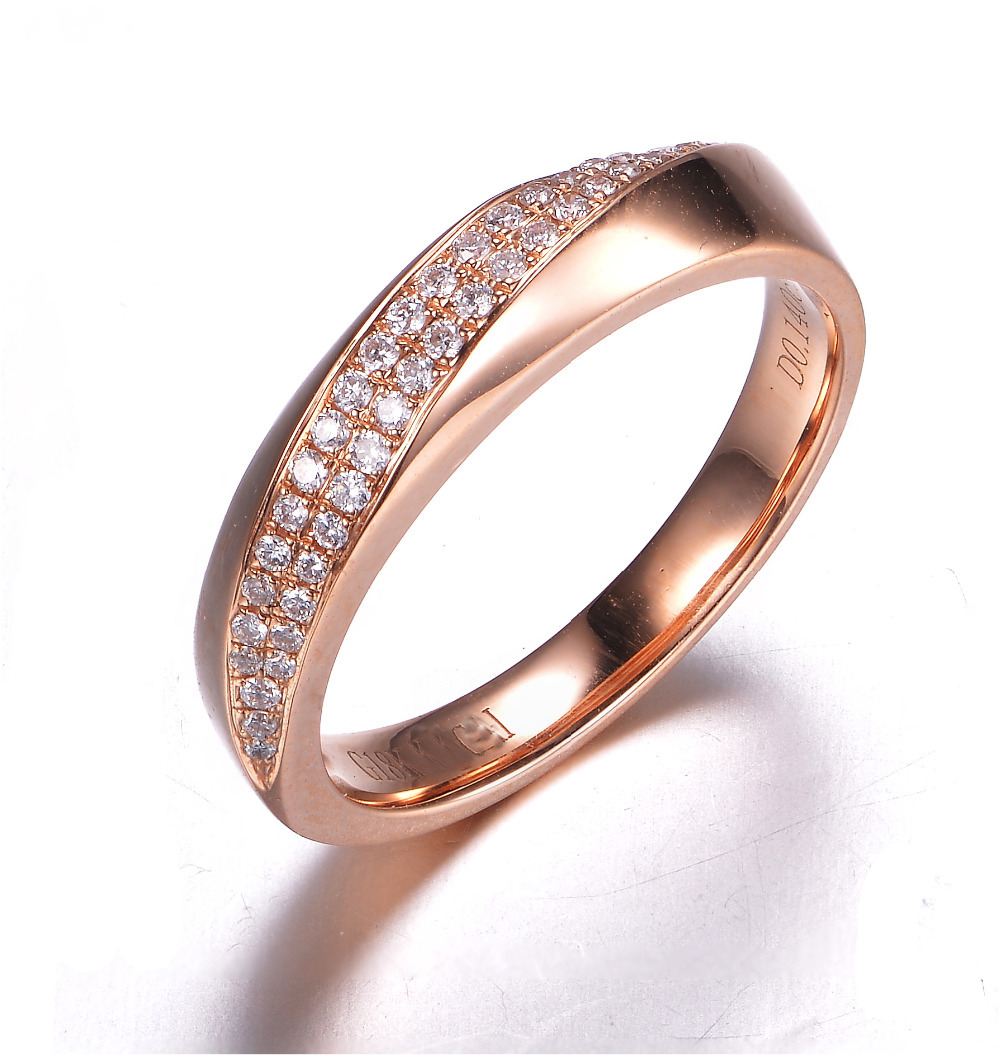 Gvbori New Romantic Diamond Ring 18k Gold Ring For Women Wedding Ring  Engagement Ring 100%