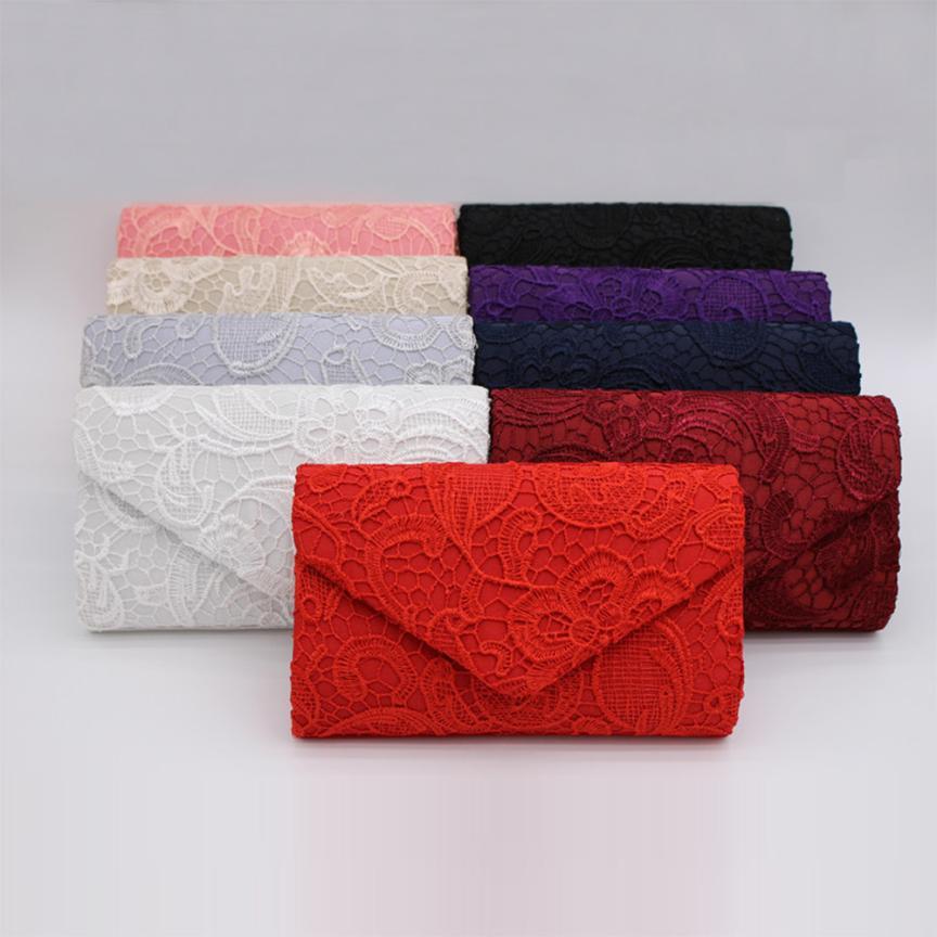 Molave Envelope Clutch Purse Shoulder-Bag Prom-Handbag Lace Floral Elegant Evening High-Quality