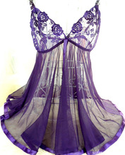 Free Shipping New Arrival Purple Plus Size M/L/XL/XXL 3XL/4XL/5XL/6XL Sexy Underwear Lingerie Plus Size Baby Doll Sexy Lingerie