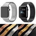 Faixa de relógio de aço inoxidável para iwatch apple watch band strap link pulseira acessórios 38mm 42mm bloqueio clássico com adaptador