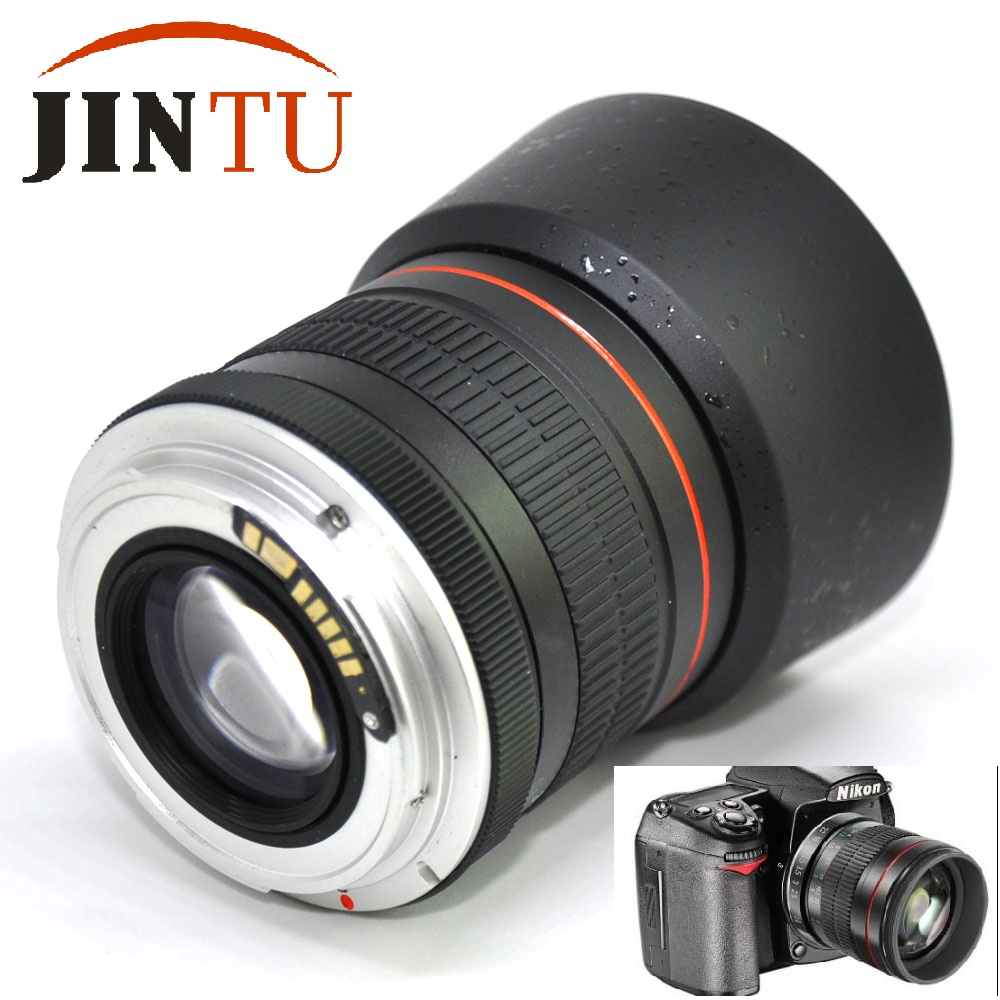 JINTU AF Confirm Chip 85mm F1.8-F22 Manual Focus Portrait Lens for Canon EOS 600D 700D 5D III 3 II 6D 550D 60D Camera ismartdigi lp e6 7 4v 1800mah lithium battery for canon eos 60d eos 5d mark ii eos 7d