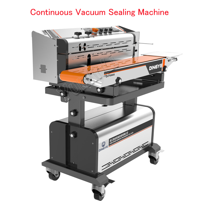 Continuous Vacuum Sealing Machine Vacuum Sealing Packaging Machine Automatic Food Inflatable Sealer 220V LF1080A/LF1080B automatic continuous plastic film sealing machine for food cosmetic potato chips dbf 1000 110v 60hz