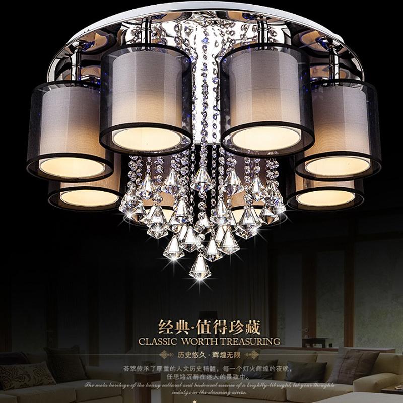 Led Wohnzimmer Kristall Lampe Runde Atmosphrischen Deckenleuchte Romantische Hochzeit Lampen Schlafzimmer Warm Fernbedienung