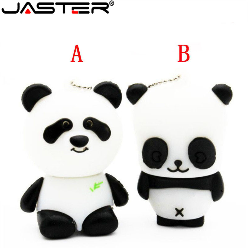 JASTER Panda USB Flash Drives (White) 100% Full Capacity 4GB 8GB 16GB 32GB Cute Animal Two Style Wholesale Price HOT