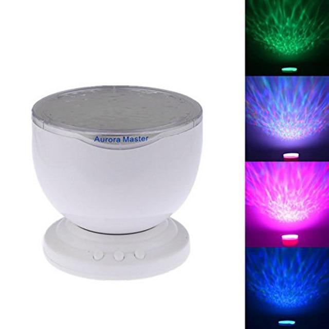 Rainbow Wave Projector Lamp & Speakers Daren Waves LED Nightlight Mini-Wave Aurora Master Night Light