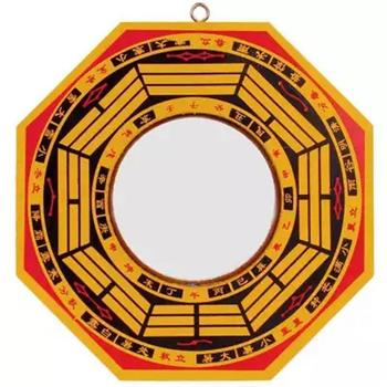 Lucky Chinese Feng Shui Dent Convex Bagua FengShui Mirror Taoist Talisman Energy Home Decoration Ornament Figurines & Miniatures