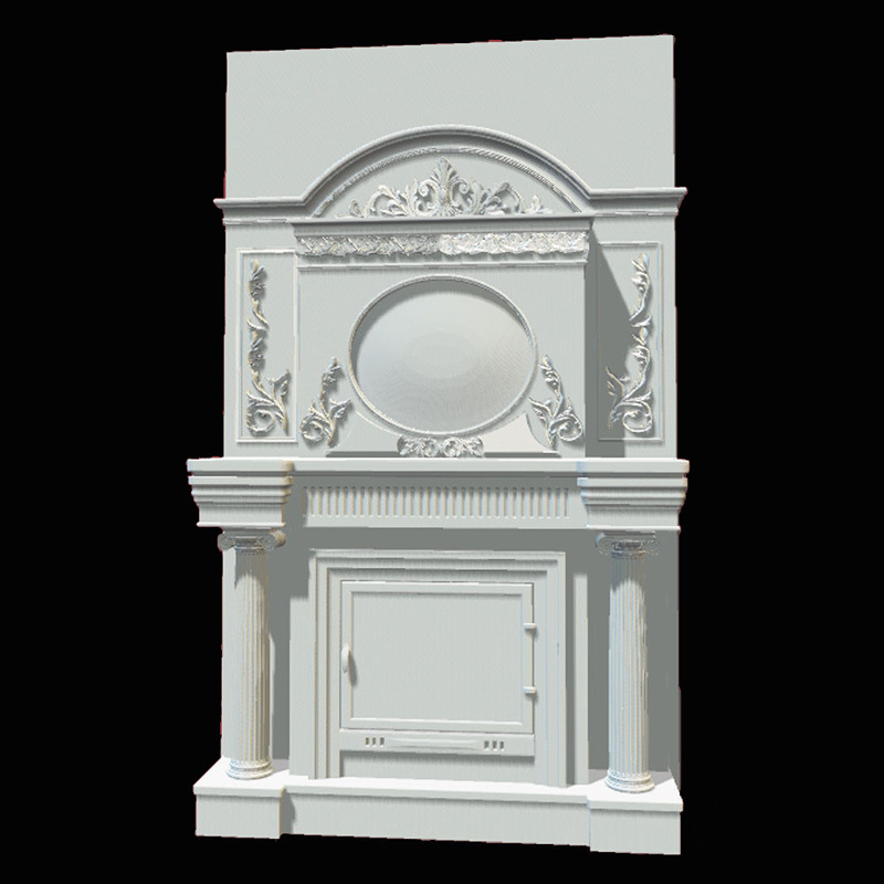 Fireplace_1 3d model STL relief for cnc STL format Fireplace_1 3d model for cnc stl relief artcam vectric aspire 3d model relief for cnc in stl file format the girl from the bathroom