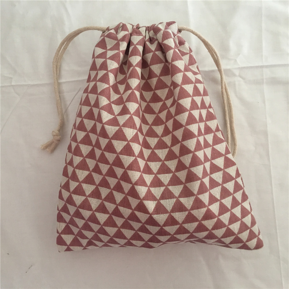 YILE 1pc Cotton Drawstring Bag Multi-purpose Organizer Pouch Party Gift Bag Mini Triangle 190111d