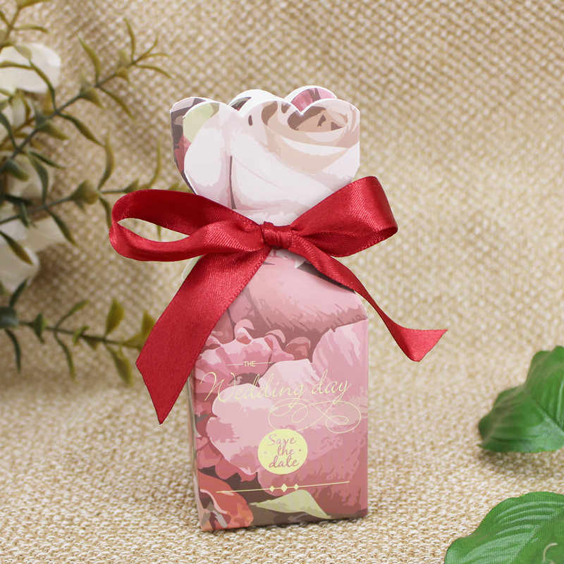 a9a288f589b0e Flower Design Gift Boxes Wedding Favors And Gifts Box Paper Candy Boxes  Bags Baby Shower Birthday Party Decorations Supplies