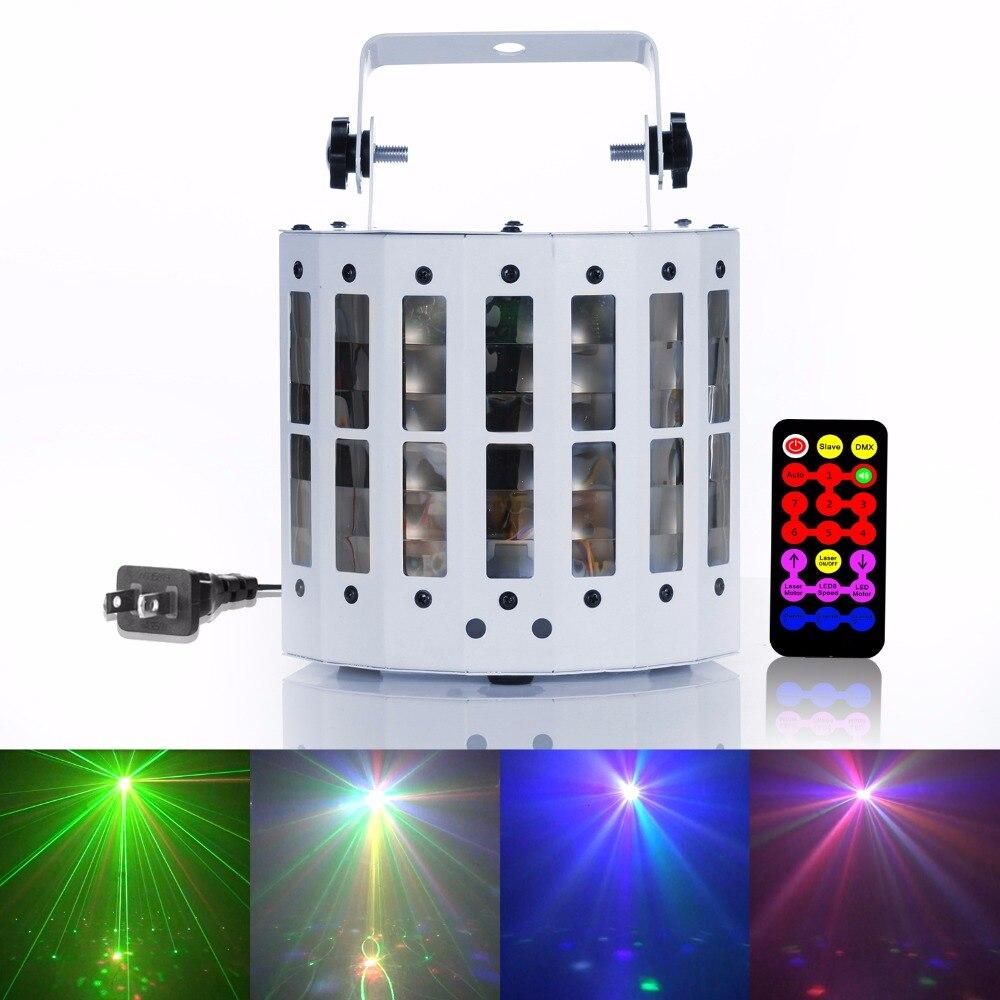 30 Вт красочные rgbw свет этапа DMX-512 дистанционного Contral голосовой эффект огни для диско DJ партии KTV show ...