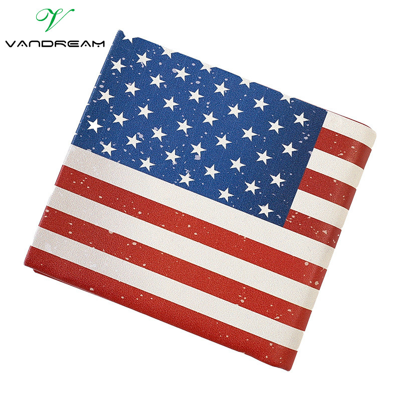 2016 Funny Novel new Men Wallet Pockets Card US UK flat Dollar Bill student boy Money clip Wallet design women short cheap purse