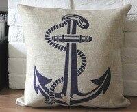 Neo gối bìa, gió đại dương Địa Trung Hải neo Retro ném pillow case pillowcase bán buôn