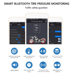 Image 5 - TPMS Motorcycle BY Bluetooth control Tire Pressure Monitoring System Mobile Phone APP Detection 2 External Sensors CHADWICK 200
