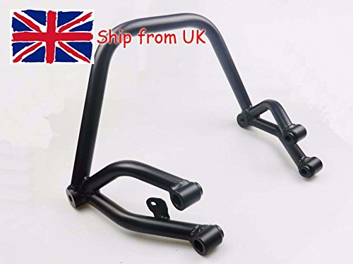 UK!! Motorcycle Black Steel Stunt Subcage Sub-cage Rear Passenger Peg Protector for Yamaha MT FZ 09 Tracer MT-09 FZ-09 2014-2017 вытяжка козырьковая delonghi kd pa 60 ix