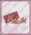 Aidocrystal fuchsia cristal marca de sapatos sacos de harmonização agradável conforto mulheres sapatos e bolsa