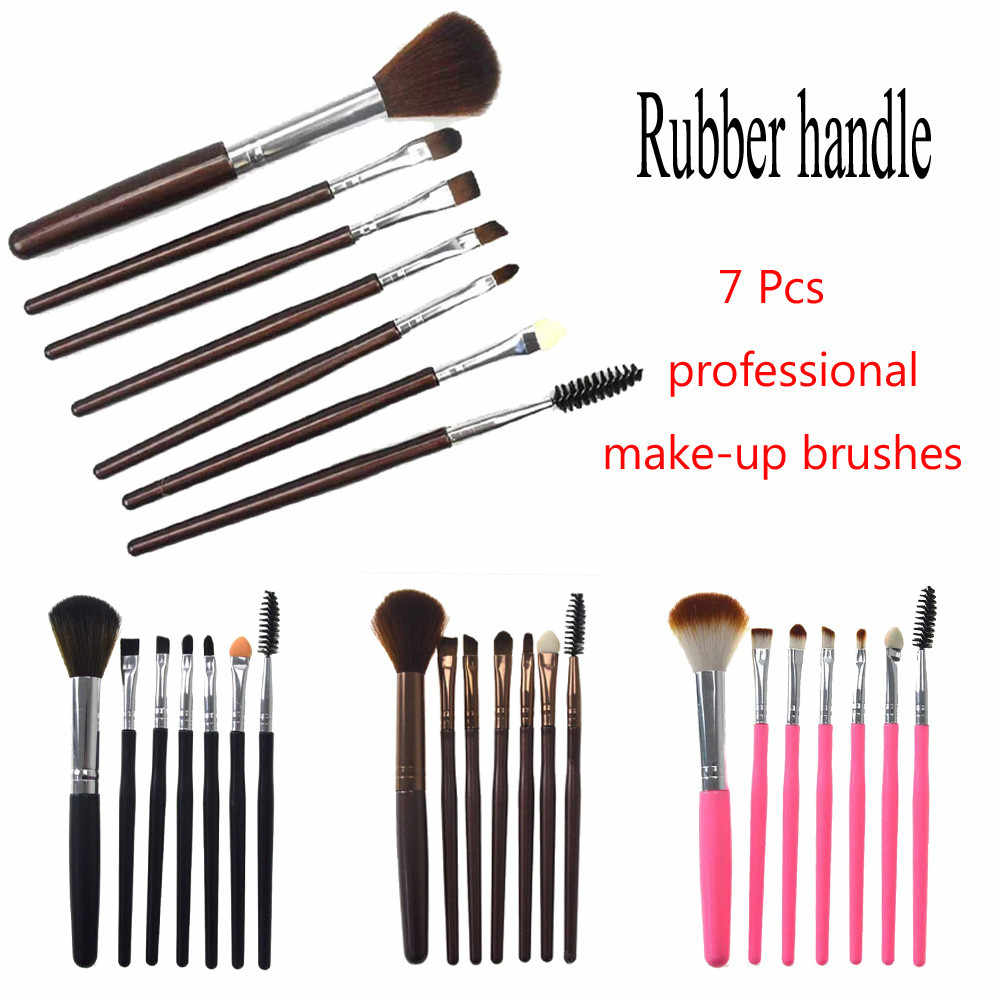 7 Pcs di Trucco Del Silicone Brush EyeShadow Brush Cosmetici Blending Brush Polvere Prodotti di base dell'ombra di Occhio di Make Up Brush