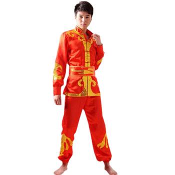 Dragon boat dance dragon dance lion gongs Martial arts costume drums lift sedan dance costumes mens models Yangko drums