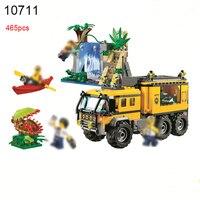 10711 해적 잃어버린 방주 빌딩 블록 정글 모험 휴대 실험실 벽돌 DIY 장난감 호환 60160 장난
