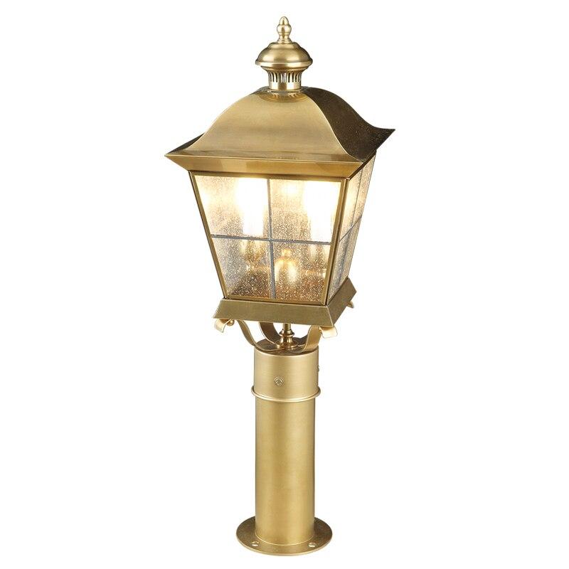 Tout en cuivre paysage éclairage Europe style Villa jardin porche E14 lampe extérieure cour prairie lampe extérieure étanche éclairage