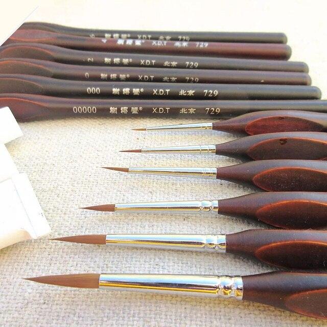 Ручка с крючками для рисования акварелью, профессиональная кисть для рисования гуашью, маслом, принадлежности для творчества, 6 шт.