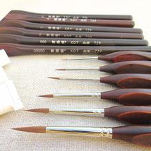 6 قطعة عالية الجودة خط هوك القلم غرامة ألوان مائية فرشاة الرسم الفنية الغواش النفط الطلاء فرشاة لوازم الفن