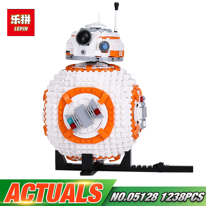 Lepin 05128 Star Double bb8 Robot Compatible Legoinglys 75187 Sets Wars Building Bricks Blocks DIY Kids Toys Boys Birthday Gifts цена
