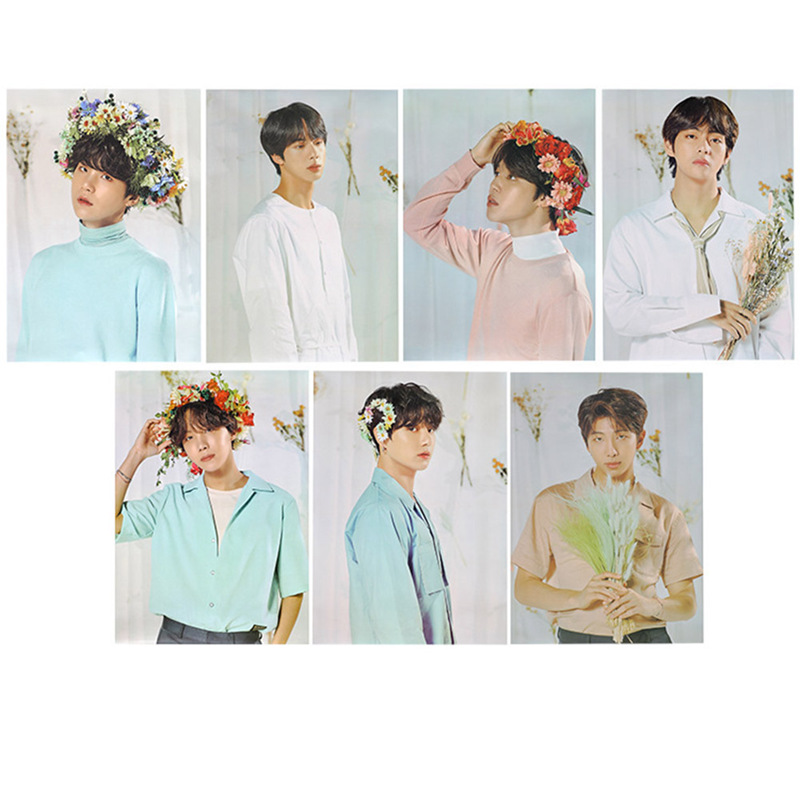 2019 Newest Fashion BTS Posters Clear Image Wall Stickers