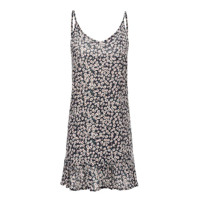 Summer Women Floral Print Loose Retro Party Evening Beach Short Mini Dress Holiday Sundress Spaghetti Strap Plus Size 4