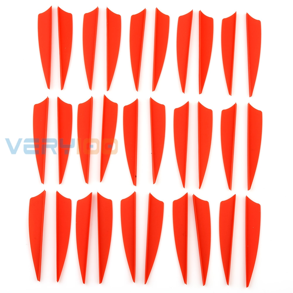 "100pcs 3/"" Arrow Vane Fletching TPU Shield Archery Hunting Shooting Compound Bow"