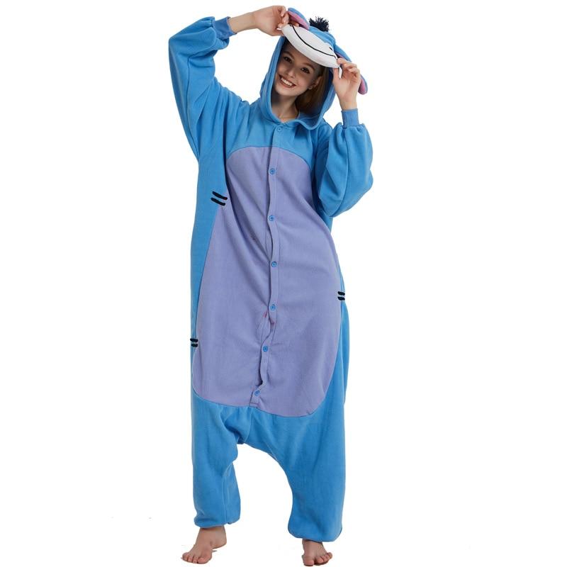 Halloween Cosplay Adult Anime Animal Eeyore Donkey Pajamas One Piece Unisex Onesie Party Costumes Sleepwear Jumpsuit