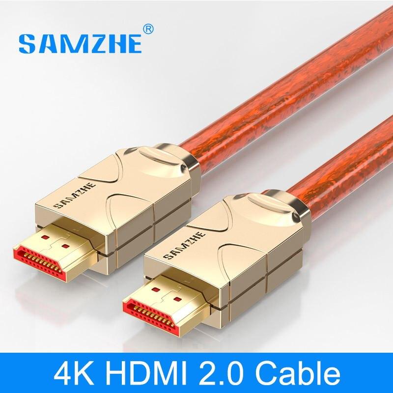 Samzhe 4 K HDMI a HDMI 2.0 cable HDMI a Av cable conector para portátil TV box Xbox proyector conectar gran pantalla displayer