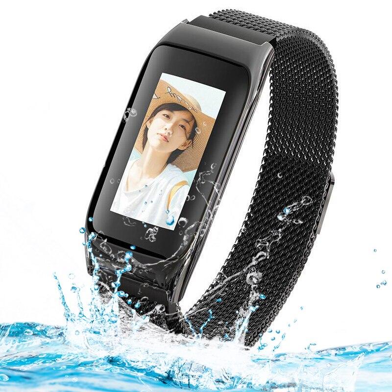 Kolorowy ekran wielu Slock interfejs wybór kobiety mężczyźni inteligentne zegarki sportowe tętna Monitor ciśnienia krwi relogio feminino w Zegarki damskie od Zegarki na  Grupa 1