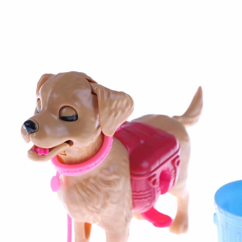 Plastik Hewan Peliharaan Anjing Set Makanan Anjing Tulang Di Luar